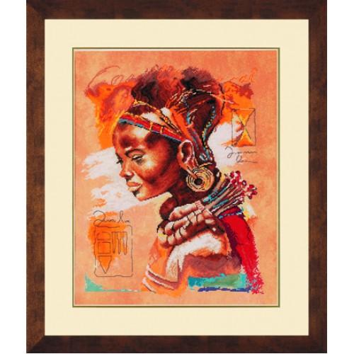 Африканская женщина. Набор для вышивания.