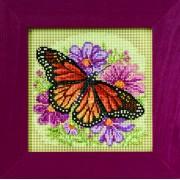 Бабочка монарх. Набор для вышивания  на перфорированной бумаге.