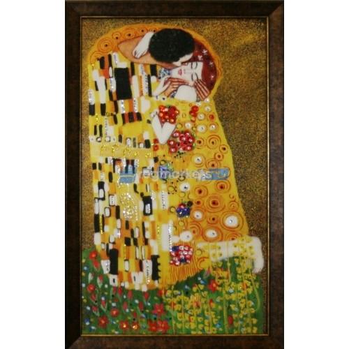 Поцелуй ( по картине Густава Климта) . Набор для раскрашивания на холсте.