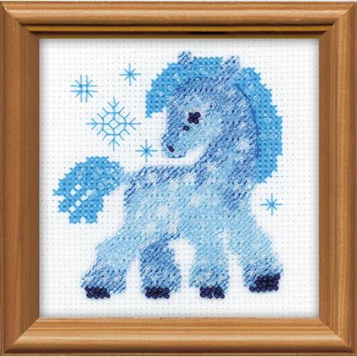 Ледяная лошадка. Набор для вышивания.