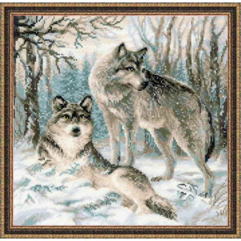 Вышивка волки к чему 81