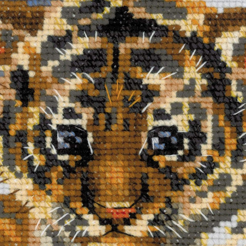 Вышивка крестом тигр на снегу 51