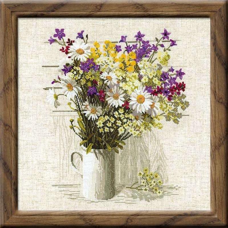 Вышивка крестом наборы риолис цветы