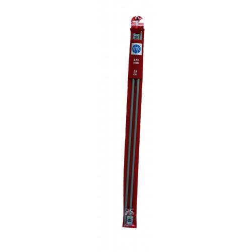 Спицы прямые, алюминий, 3.5 мм, длина 35см