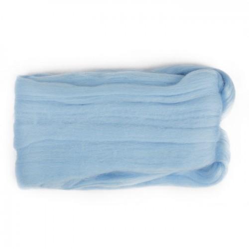 Шерсть для валяния, цвет светло-голубой
