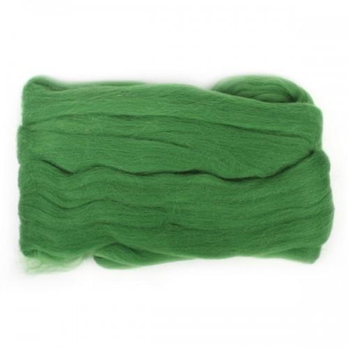 Шерсть для валяния, цвет зеленый-киви