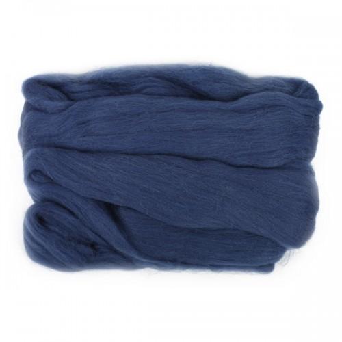 Шерсть для валяния,  цвет темно-синий