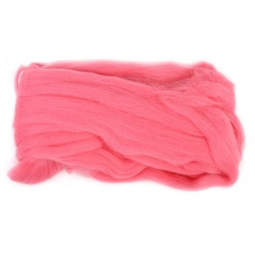 Шерсть для валяния, цвет розовый