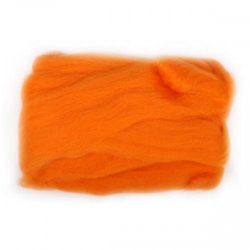 Шерсть для валяния, цвет оранжевый