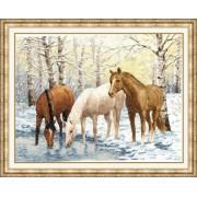 Лошади у реки. Набор для вышивания