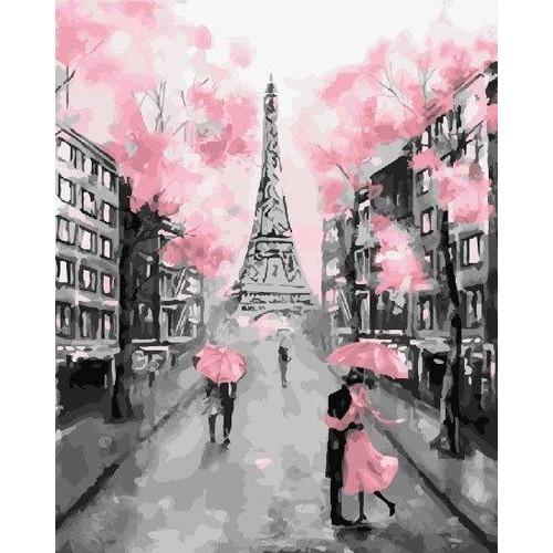 Набор для раскрашивания на холсте. Гламурный Париж.